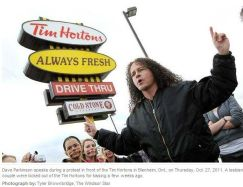 Occupy Timmies, Blenheim, Ontario